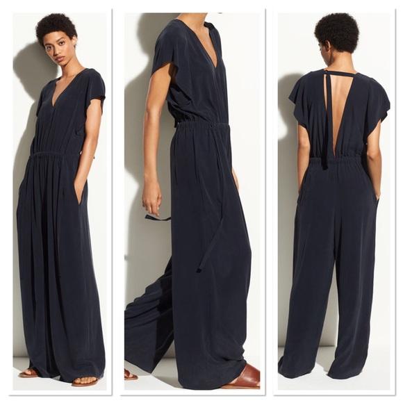 6ea7231758 Vince Flutter Cap Sleeve Silk Jumpsuit